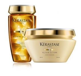 Kit Kérastase Bain + Masque Elixir huile Sublime