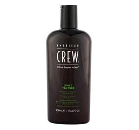 American Crew 3 in 1 Tea Tree Shampoo + Conditioner + Body Wash 450 ml
