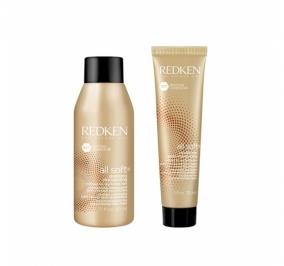 REDKEN ALL SOFT SHAMPOO 50 ML + CONDITIONER 30 ML